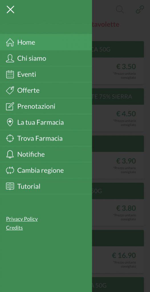 farmacè menu